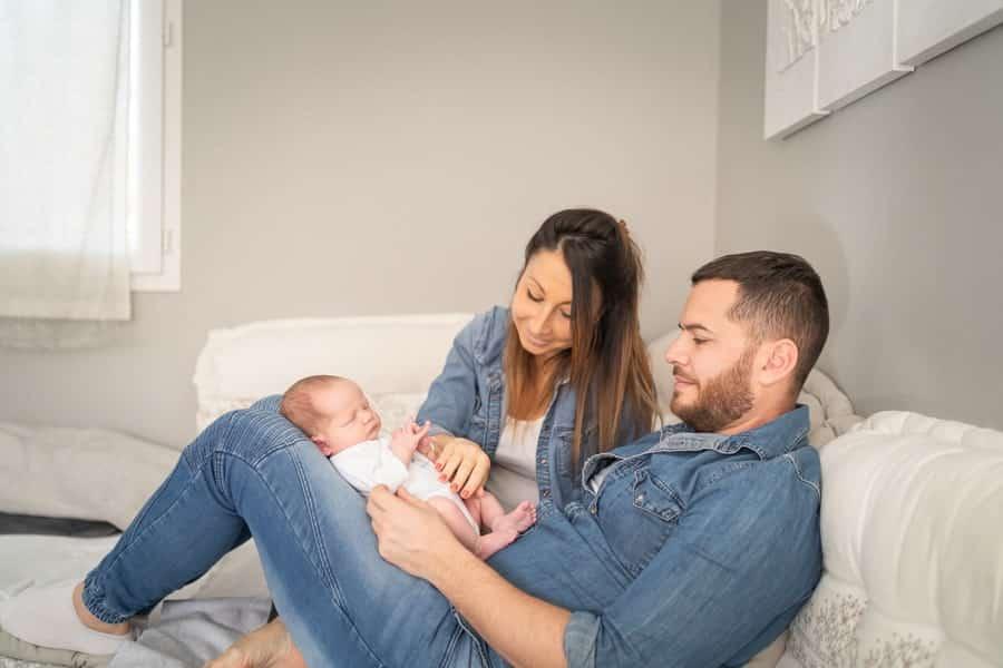 photos de bébé en famille