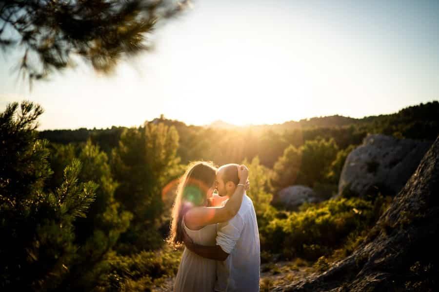 Photographe couple Baux de Provence