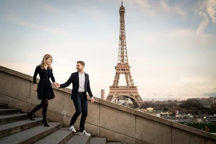 séance photo couple Paris tour eiffel
