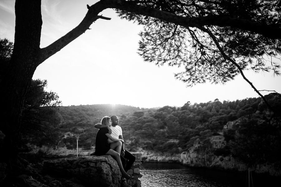 photos de couple calanque de Port Miou