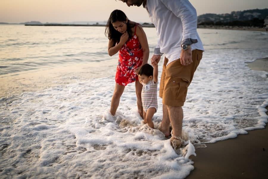 photos de famille au bord de mer