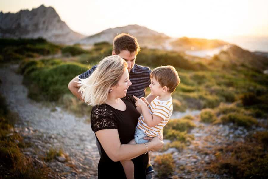 photographe famille marseille photos coucher de soleil