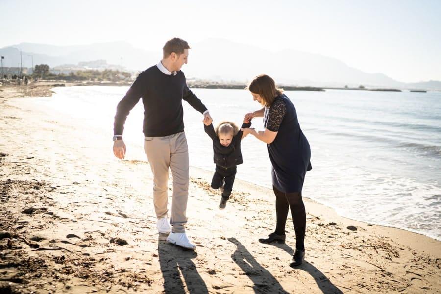 photos de famille sur la plage de marseille