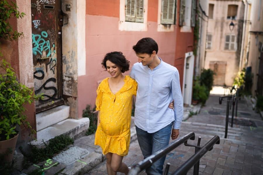 photos de grossesse dans les rues du panier