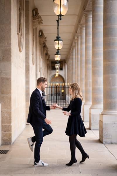 photographie de couple au palais royal