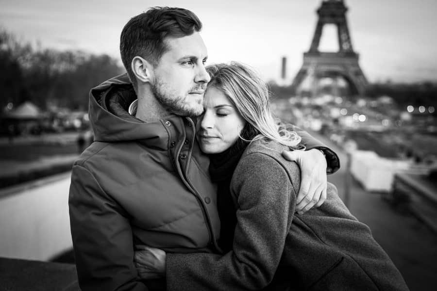 photographies de couple au trocadero